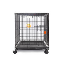 Wholesale 2 Doors XL XXL Iron Metal Dog Cages Crates For Large Doges With Wheels And Lock