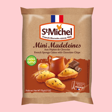 Mini Madeleines cake with Chocolate Chips 10-count, 175 grams, 12 bags / case