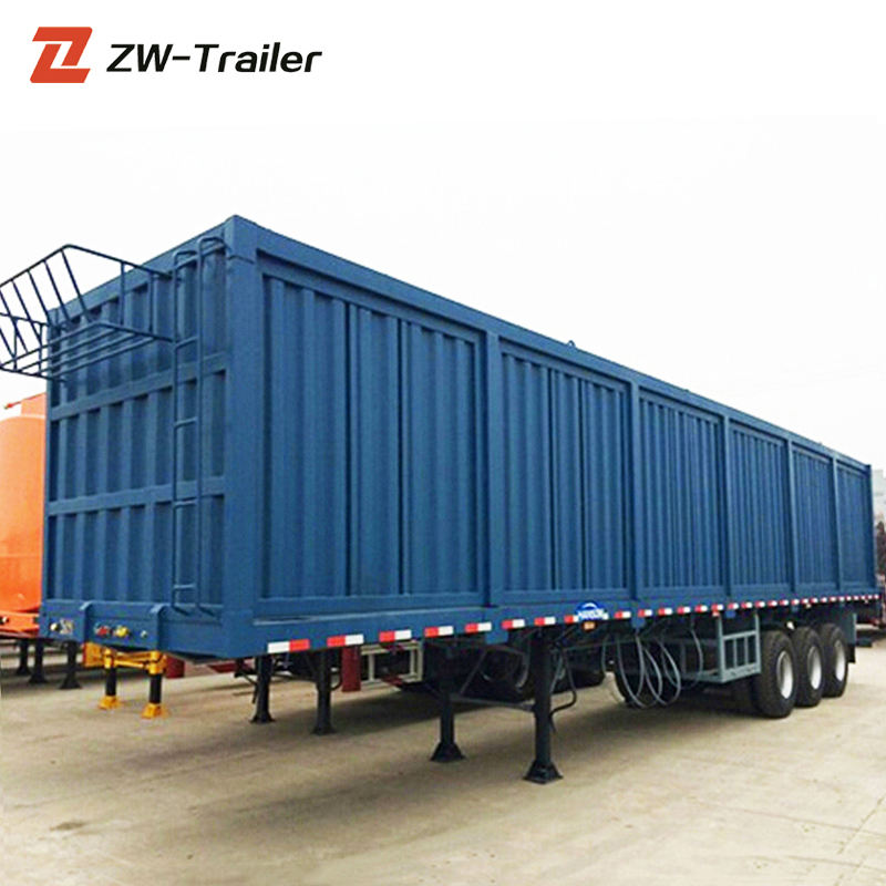 Chinese manufacturing box semi trailer cargo van truck trailers for sale