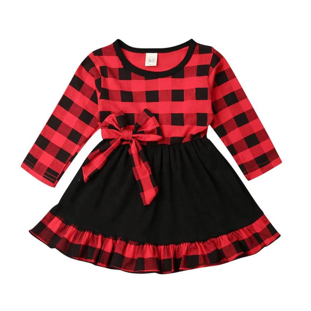 cuadros de <span class=keywords><strong>moda</strong></span> ropa de bebé vestido de Navidad chicas encantadoras vacaciones de Navidad ropa vestido