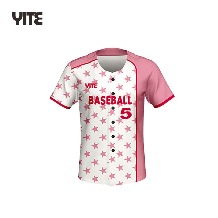 sublimation plain blank stripped bulk custom logo made baseball jerseys for woman