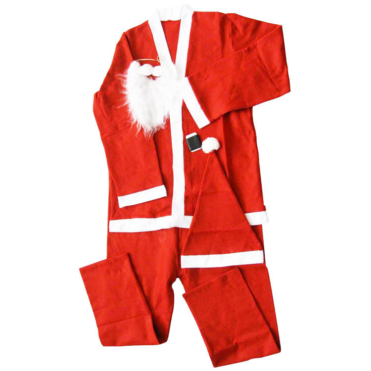 5pcs adult and children santa claus costume