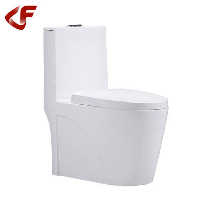 OEM good quality wc ceramics white siphonic S-trap dual flushing one-piece toilet A-315