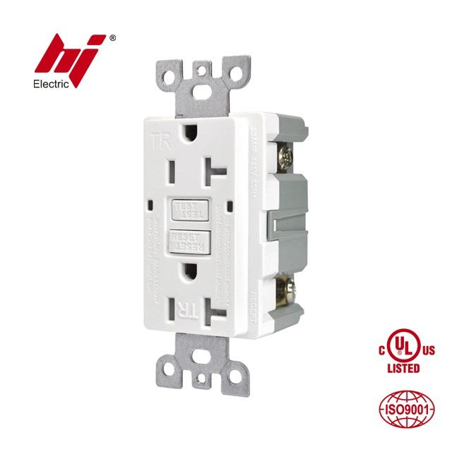 CUL UL 20 Amp TR <span class=keywords><strong>GFCI</strong></span> Wall Outlet Socket mit Tamper Resistant
