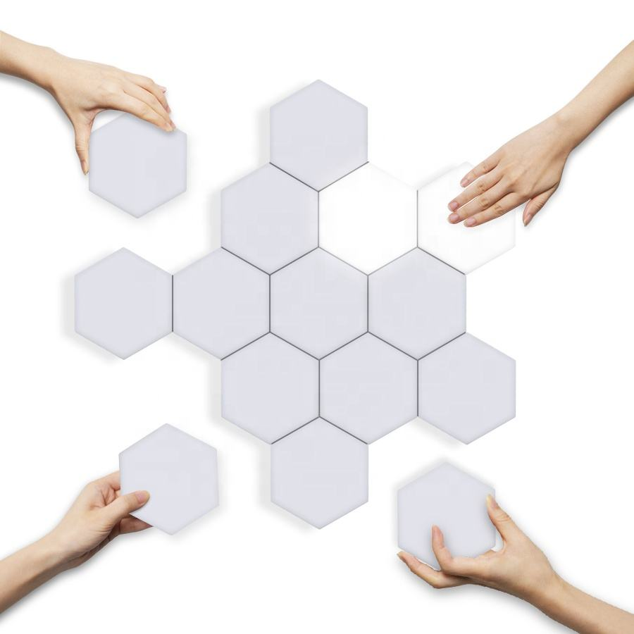 cool/warm white Quantum lamp led Hexagonal lamps modular touch sensitive night lighting magnetic creative decoration wall lamp