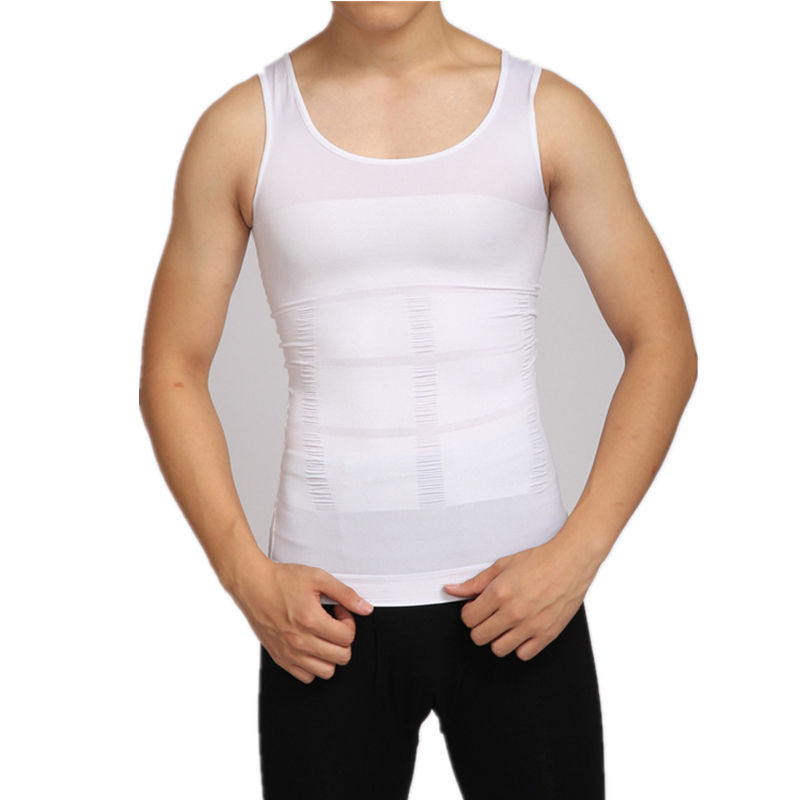 Tummy Shaper <span class=keywords><strong>Vest</strong></span> Afslanken Belly Taille Gordel Shirt Shapewear Ondergoed Top Mannen Slim Fit <span class=keywords><strong>Shirts</strong></span>