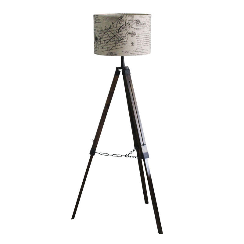 Wholesale Wrought Iron Art Modern Nordic Home Decoration Lights Lamp Shade Tripod LED Floor Lamp Standing Lamp