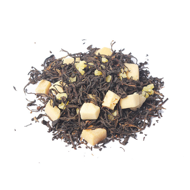 Best Tasting Yerba Mate Flavored Black Tea Drink Organic Coconut Pineapple Chinese Black Tea