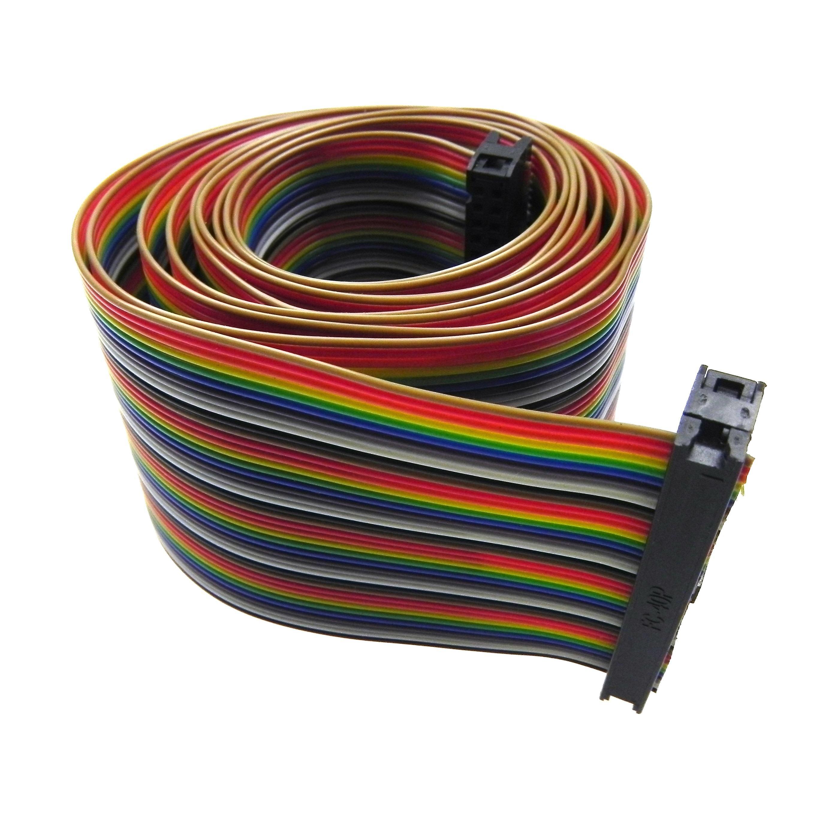 M-M F-F jumper protoboard Alambre GPIO cables planos Acce 40Pcs cables Dupont M-F