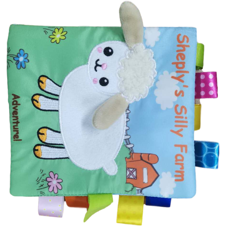 Plush Soft Toy Baby Educational Cloth Book