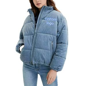 China wholesale trendy bubble woman fur coats 2020 down corduroy puffer plus size jacket winter autumn coat womens blazers