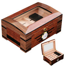 customized cigar box humidor with embedded