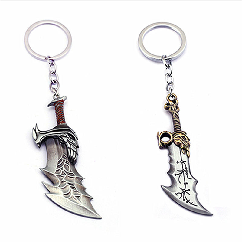 Weapon Blades of Chaos God of wars 4 keychain Shield key ring portachiavi llaveros thor avengers fashion jewelry