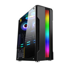 oem High quality atx with power supply fan cooler master plastic LED gaming cpu cabinet computer case