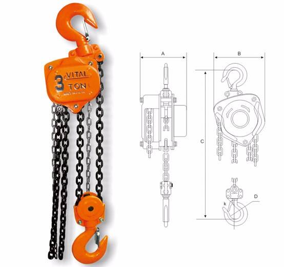 explosion proof manual hand hoist small Lifting Tools easy operating chain block