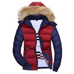 Canada Men Cheap Trench Coat Winter Down Filled Jacket Fur H