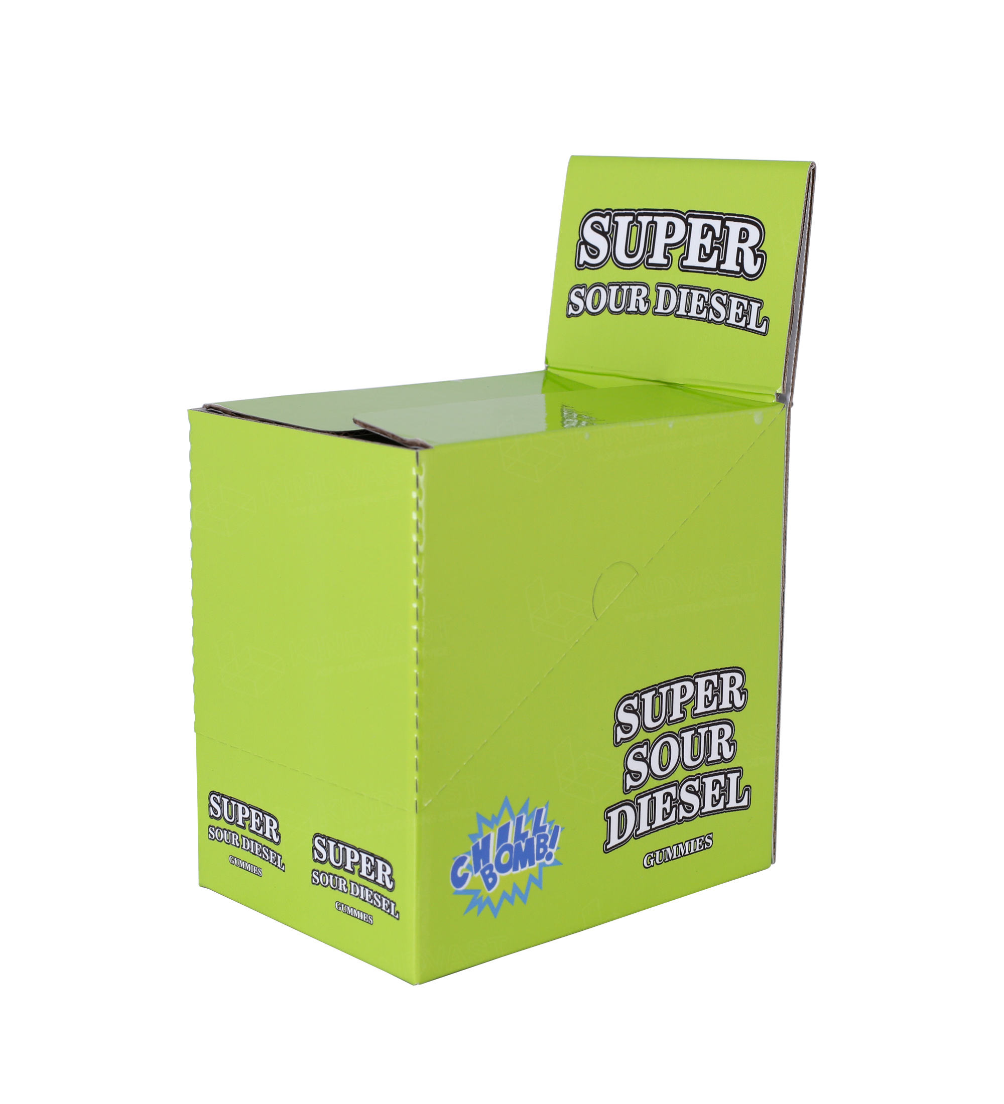 Customized Packaging Box Chewing Gum Retail Box Cardboard Custom Printed Retail Ready Box Counter Display Case