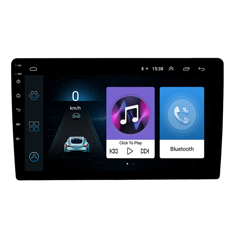 Single Din auto dvd-speler 9 inch touch screen universele auto multimedia speler entertainment auto stereo android systeem