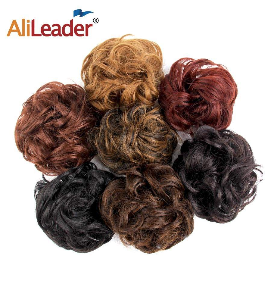 AliLeader Best Quality Synthetic Hair Chignon 10 Colors Hair Accessories For Women Bun