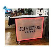 Popular Led mobile folding portable bar with wheels