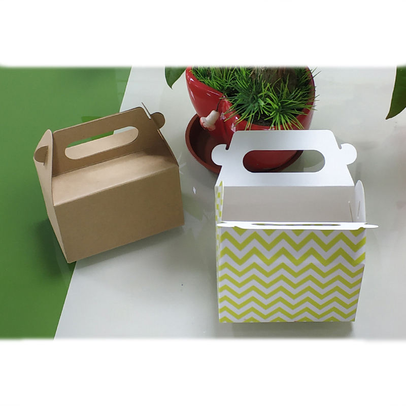 Handle Carton Boxes Corrugated Paper Box With Handle