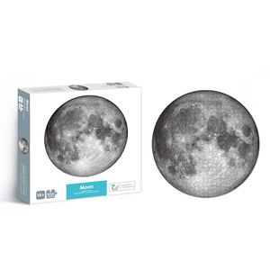 Accept custom moon circular puzzle 1000pcs cardboard round jigsaw puzzle