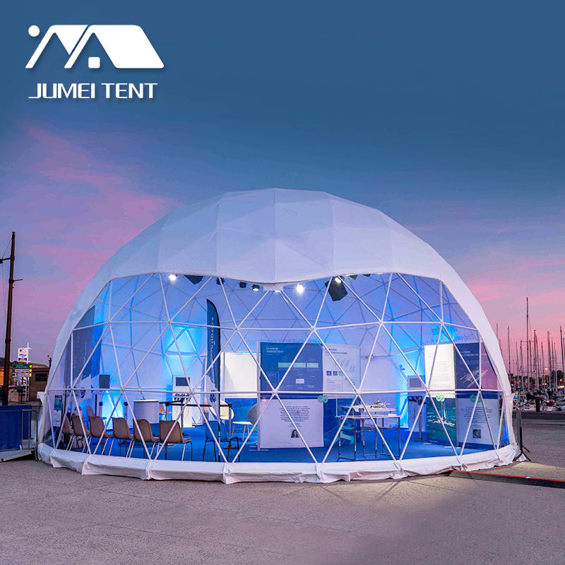 Outdoor Music Rocked Party Transparent PVC Geodesic Tent Domes For Festival In Slovakia