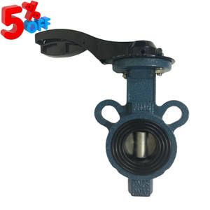 Cheap Price D71X Stainless Steel Disc Ductile Iron Wafer 32mm Butterfly Valve