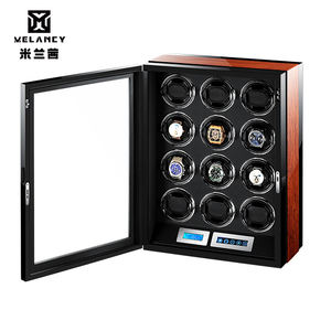 12 Slots Watch Winder Black Automatic Mechanical Watch Winder Fashion Men Watch Storage Case