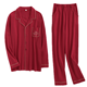 Design Wholesale Leisure Home Clothes Red Christmas Suit,100% polyester pajamas