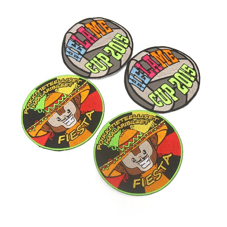 High Quality No Minimum Personalized Sewing on Tajima Machine Labels Private Custom Animal Embroidery Badges and Patches