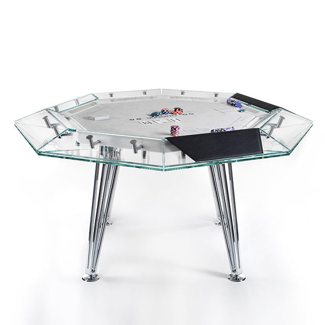 58 inch 8 player round modern card game poker table