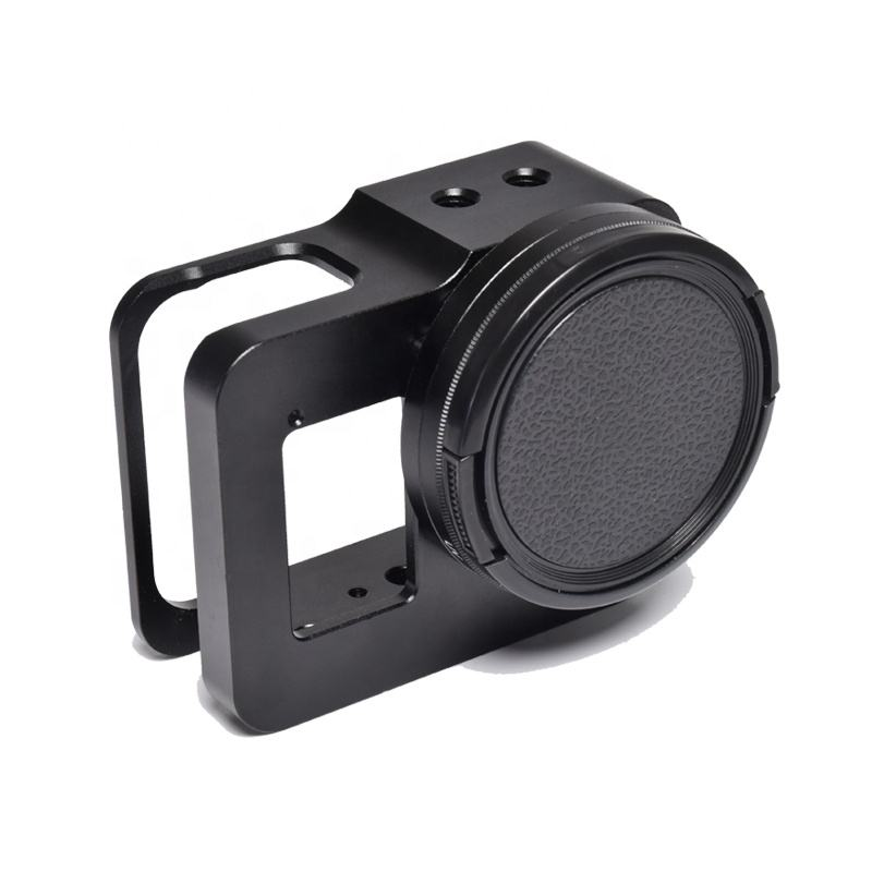 KANEED Housing Shell CNC Aluminum Alloy Protective Cage with 37mm UV Lens /& Base Mount /& Screw for Sony RX0 Color : Black CNC Aluminum Alloy Housing Protective Cage Shell C Black
