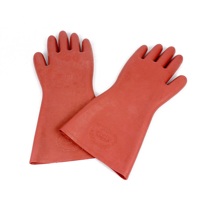 12KV Electrical Operating Gloves Use Voltage 3000V Electrical Protective Rubber Waterproof Gloves