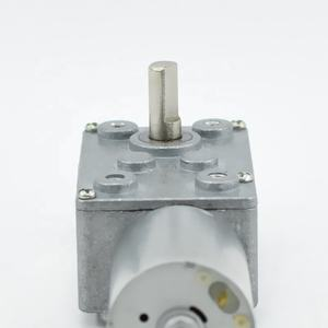 Anti-Interferentie 46*32Mm Size 4Mm As 5V 12V Drive Grote Koppel 2N. M Micro Turbine Dc Wormwiel Motor Voor Barbecue Machine