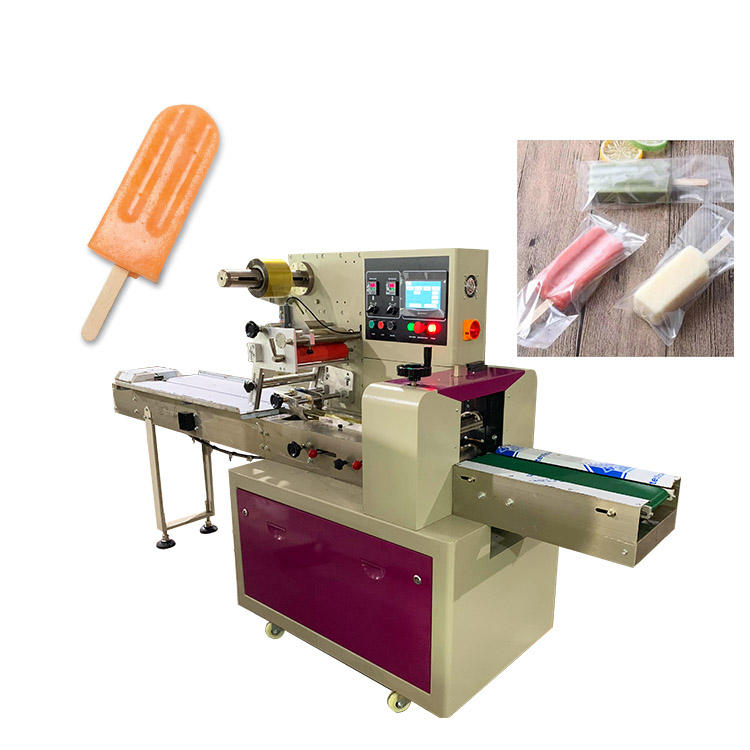 Competitive Price Ice Cream Wrapping packaging Machine For Popsicle Filling Low Noise Level