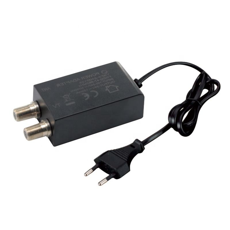 TV Antenna Power Adapter 12V 450mA DC F Plug Adapter 24V 200mA Antenna Adapter