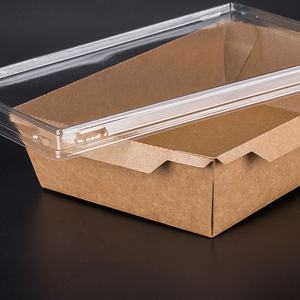 The factory direct sale products food packaging kraft paper box with lid