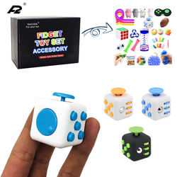 Fidget Cube Stress Relief Toy PVC Square Creative Decompression Cube Magic Toys For Kids Customization Amazon Hot Selling