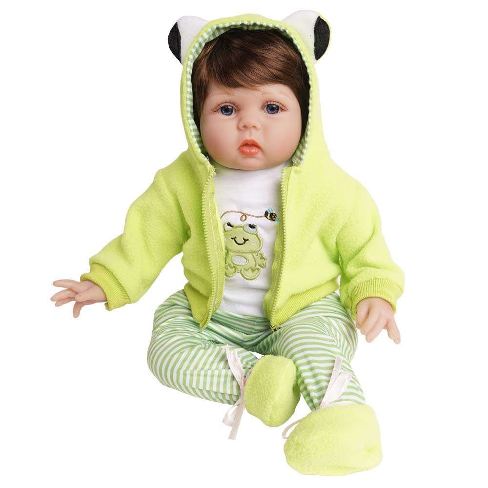 Yesteria Lifelike Reborn Baby Dolls 22 Inches 2 Outfits Silicone Vinyl Weighted Cotton Body Gift Set