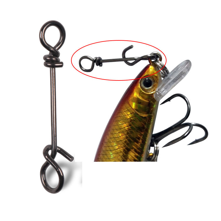 Quick Connection Clip Stainless Steel Fishing Swivels Nice Snaps Fast change Swivel Rolling Snap