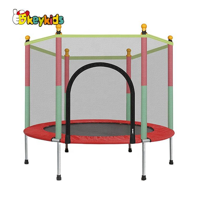 New arrival garden playground kids trampoline with safety net M01A001