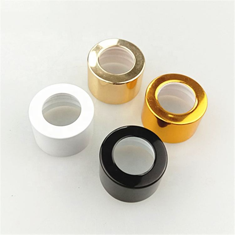 28mm seal aluminum plastic cap for glass diffuser bottle