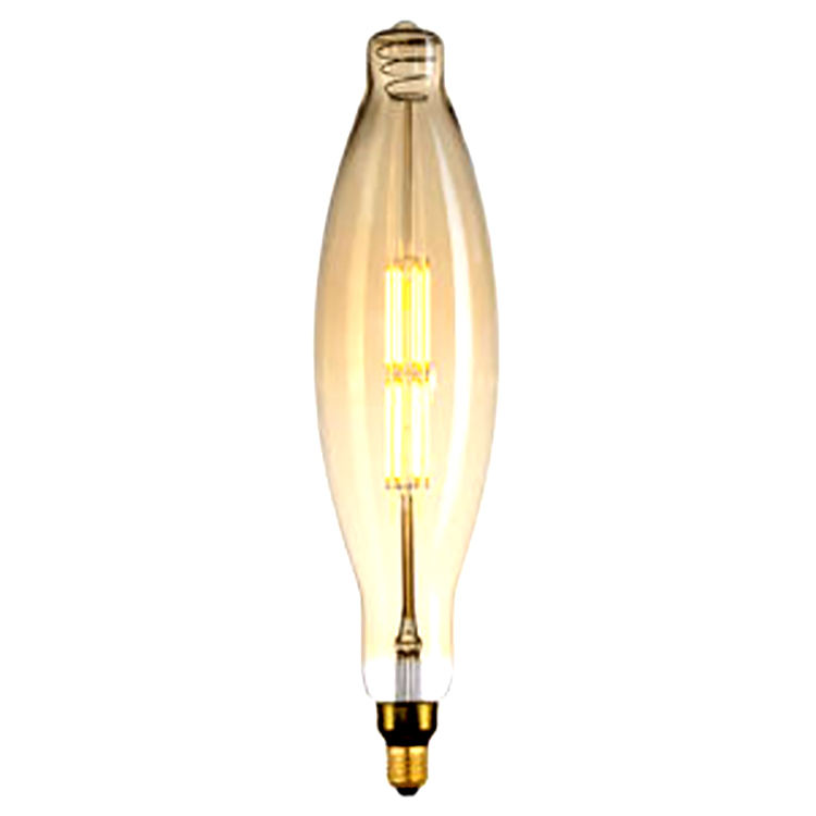Antieke Warm Wit <span class=keywords><strong>Dimbare</strong></span> 4W E26 E27 BT120 Oversize Rook Led Zachte Filament Lamp