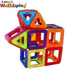 puzzle magnetic blocks 100pcs 3d building tiles toy plastic building sets