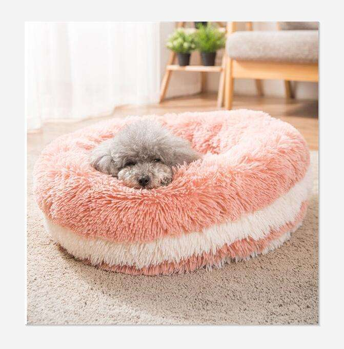 Comfortable pet deep sleep bed sweet cute INS Hot! stored winter wholesale round dog cat pet bed