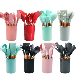 12 Pieces a set Durable Silicone Kitchen Utensils Sets for Nonstick Cookware