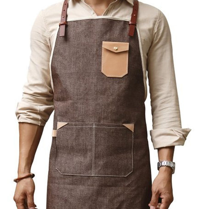 Butcher Waterproof Black Heavy Duty waxed canvas industrial apron