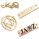 Fashion design engraved brand name custom metal logo labels tag for clothing