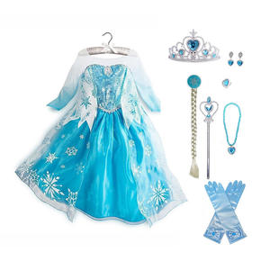 New Product Ideas 2020 Kids Cosplay Princess Girl Frozen Dress Costume Elsa